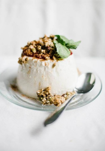 RECIPE: Breakfast Panna Cotta, Chocolate Granola Crumble & Boozy Cherries